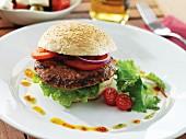 A bison burger