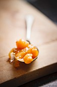 A spoonful of apricot chutney