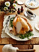 Roast turkey with chilli and maple syrup