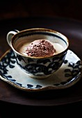 Espresso with chocolate ice cream