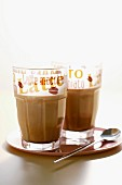 Glasses of iced coffee