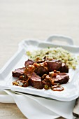 Spicy beef fillet with couscous (Morocco)