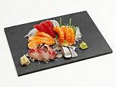 Sashimi platter with ginger and wasabi