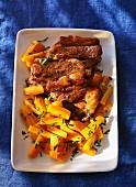 Kalbfleisch mit Möhrengemüse
