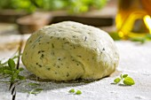 Pasta dough with oregano