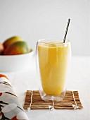 A mango smoothie