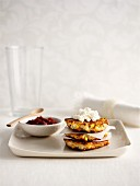 Sweetcorn cakes with ricotta