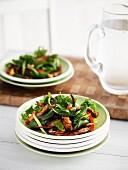 Warm chicken salad with cashew nuts