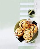 Savoury scone buns with cheese and Veggiemite