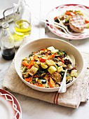 Couscous with balsamic-roasted vegetables