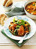 Chicken curry with green beans
