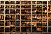 A large wine shelf