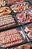 A large selection of meat