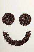A coffee bean smiley