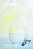 Passion fruit and lemon soufflé