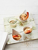 Prawn tempura with a soya dip