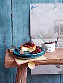 Baked Camembert with a cranberry and fig chutney