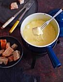 A mini cheese fondue
