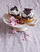 Trifle mit Blaubeeren, Mascarponecreme & Schokoraspeln