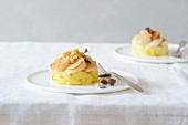 Potato timbale with scallops