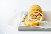Potato roulade with Serrano ham and mozzarella