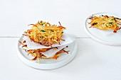 Potato cakes with carrots