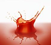 Splashing tomato juice