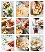 Semmelknödel mit Pilzrahm zubereiten