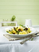 Pappardelle with green asparagus and truffles