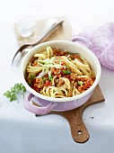Linguine with a lentil bolognese