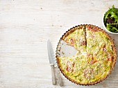 Leek and tomato tart
