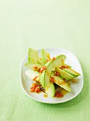 Avocado with spicy salsa