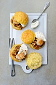 Gougeres with scallops