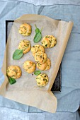 Salmon and spinach gougeres
