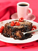 Baked chocolate pudding