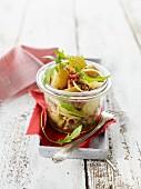 A rustic potato salad