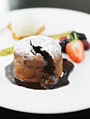 Chocolate soufflé with a liquid centre