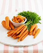 Various types of carrots