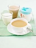 Various milky drinks