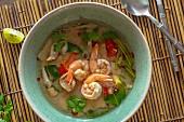 Tom yam gung (spicy-sour prawn soup, Thailand)