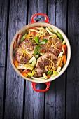 Rindfleischtopf mit Gemüse