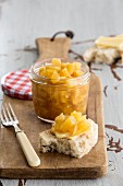 Pickled pineapple with cinnamon and ginger