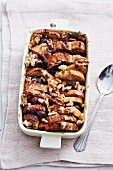 Bread bake with plums and walnuts