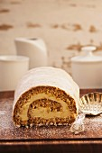 Spiced Swiss roll with honey