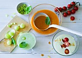 ADHD food: iced avocado soup, gazpacho and cold cucumber soup