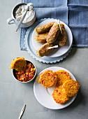 Ernährung bei ADHS: Buchweizen-Cevapcici & Hirseburger mit Dips