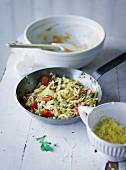 Ernährung bei ADHS: Vollkornspätzle mit Gemüse