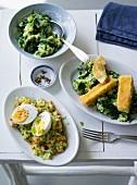 Ernährung bei ADHS: Kartoffelpüree mit Spinat & Kartoffelpürre mit Möhren