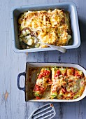 ADHD food: cauliflower lasagne and stuffed cannelloni