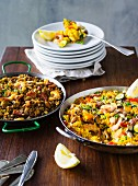 ADHD food: seafood paella and lentil paella